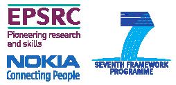 EPSRC, FP7 and Nokia logos